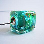 Украшения ручной работы. Ярмарка Мастеров - ручная работа Кулон кубик из стекла Сон Тиффани. Handmade.
