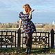 """Платья ручной работы. Заказать Платье """"Молния"""". Марина Смирнова (SMS) вязание. Ярмарка Мастеров. Платье крючком, полосатое платье"""