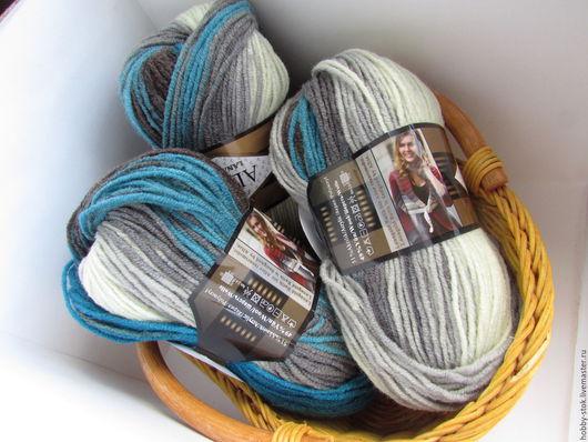Вязание ручной работы. Ярмарка Мастеров - ручная работа. Купить Пряжа Alize Lanagold Batik. Handmade. Разноцветный, пряжа для вязания