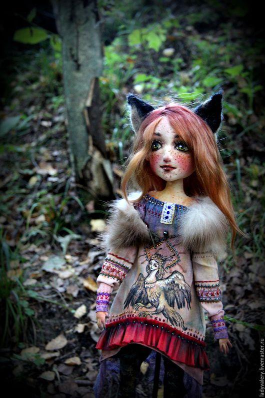 Коллекционные куклы ручной работы. Ярмарка Мастеров - ручная работа. Купить Норна. Handmade. Рыжий, кукла из ткани, льняное платье