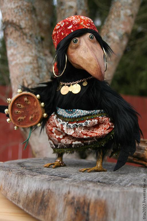 Мишки Тедди ручной работы. Ярмарка Мастеров - ручная работа. Купить Ляля. Handmade. Черный, птица, 5-и шплинтовое крепление