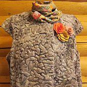 Одежда ручной работы. Ярмарка Мастеров - ручная работа 42-66! жилет мутон  серый. Handmade.