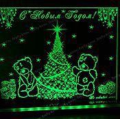 Подарки к праздникам ручной работы. Ярмарка Мастеров - ручная работа Новый год Мишки Тедди у елки Сувенир. Handmade.