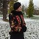 """Верхняя одежда ручной работы. Зимнее пальто """"Столичная кокетка"""".. Алёна. Ярмарка Мастеров. Натуральный мех, павлово-посадский платок"""