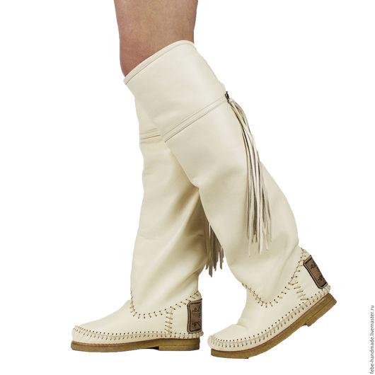 Обувь ручной работы. Ярмарка Мастеров - ручная работа. Купить Зимние сапоги ботфорты HESSIAN bots 37-38 размер в наличии/. Handmade.