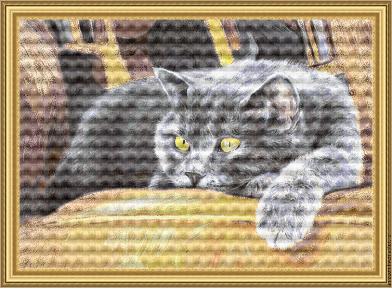 Наборы для вышивки бисером кот