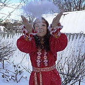 Русский стиль handmade. Livemaster - original item Women`s shirt red. Handmade.