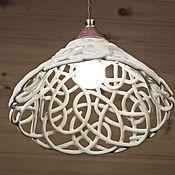 Для дома и интерьера handmade. Livemaster - original item Martini Bianco - the lamp is ceramic on the suspension. Handmade.