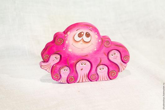 Развивающие игрушки ручной работы. Ярмарка Мастеров - ручная работа. Купить Осьминожка. Handmade. Чудо-дерево, детям, сувенир, осьминог