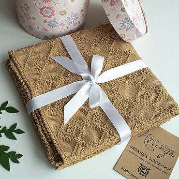 Товары для малышей ручной работы. Ярмарка Мастеров - ручная работа Плед / одеяло детское вязаное. Handmade.