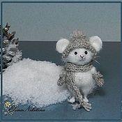 Куклы и игрушки ручной работы. Ярмарка Мастеров - ручная работа Мышь белая ручная.. Handmade.