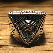 Украшения handmade. Livemaster - original item Ring all-seeing eye of silver 925. Handmade.