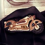 """Украшения ручной работы. Ярмарка Мастеров - ручная работа Брошь """"BMW R7"""". Handmade."""