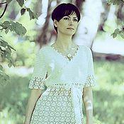 """Одежда ручной работы. Ярмарка Мастеров - ручная работа Вязаное платье """"Женщина в белом"""". Handmade."""