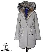 Одежда ручной работы. Ярмарка Мастеров - ручная работа Парка-пальто на меху лисы, женская парка зимняя с подстежкой из меха. Handmade.