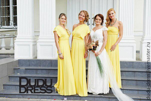 321c4441f04 Купить Платья для подружек невесты жёлтые Платья ручной работы. Платья для подружек  невесты жёлтые. Dudu-dress. Интернет- ...