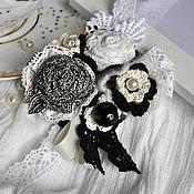 """Украшения ручной работы. Ярмарка Мастеров - ручная работа Брошь """" Black&White"""". Handmade."""