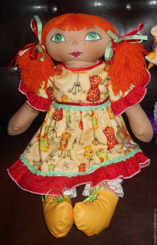 Коллекционные куклы ручной работы. Ярмарка Мастеров - ручная работа. Купить Текстильная кукла - рыжая подружка. Handmade. текстильная игрушка