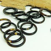 Украшения handmade. Livemaster - original item Thin black agate ring 16-17-18 R-R. Handmade.