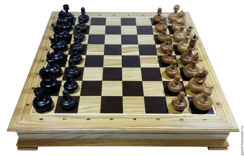 Chess Classic, 45x45 cm, oak, handmade, Chess, St. Petersburg,  Фото №1
