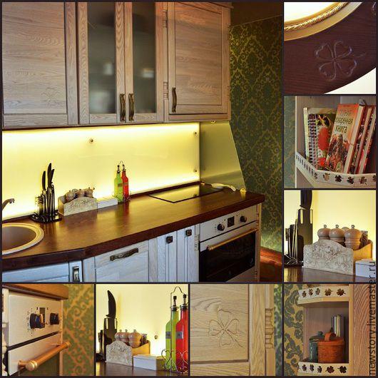 Мебель ручной работы. Ярмарка Мастеров - ручная работа. Купить Фасады, столешницы и декор для кухни из дерева - дизайн, идея. Handmade.