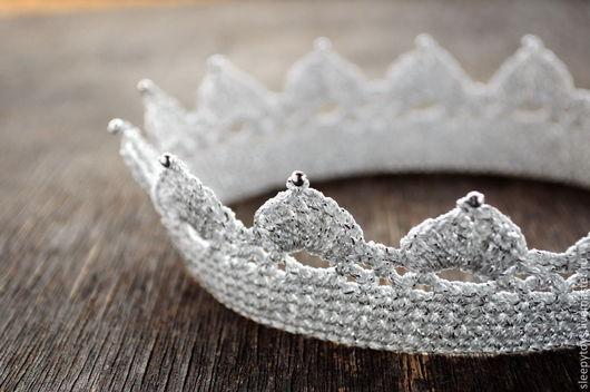 Вязаная корона крючком для принцессы