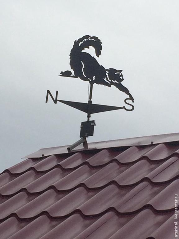 как установить флюгер на крышу