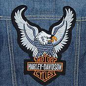 Аппликации ручной работы. Ярмарка Мастеров - ручная работа Нашивка для байкера Harley Davidson. Handmade.