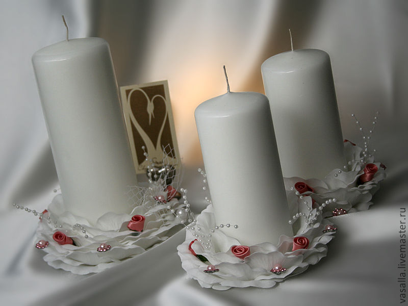 Wedding candles 'Buds', Candles, Moscow, Фото №1