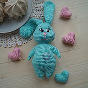Куклы и игрушки ручной работы. Ярмарка Мастеров - ручная работа Игрушка-погремушка (зайка). Handmade.