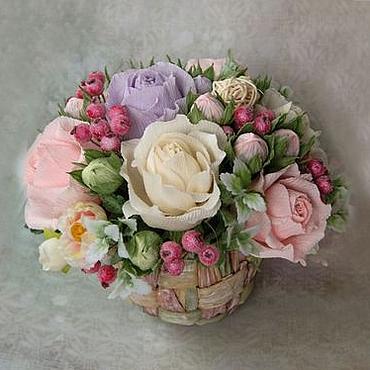 """Цветы и флористика ручной работы. Ярмарка Мастеров - ручная работа Букет из конфет """"Морозный день"""". Handmade."""