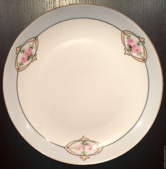 Винтажная посуда. Ярмарка Мастеров - ручная работа. Купить Старинная фарфоровая тарелка C. Hutschenreuther , Бавария. Handmade. Белый, Бавария