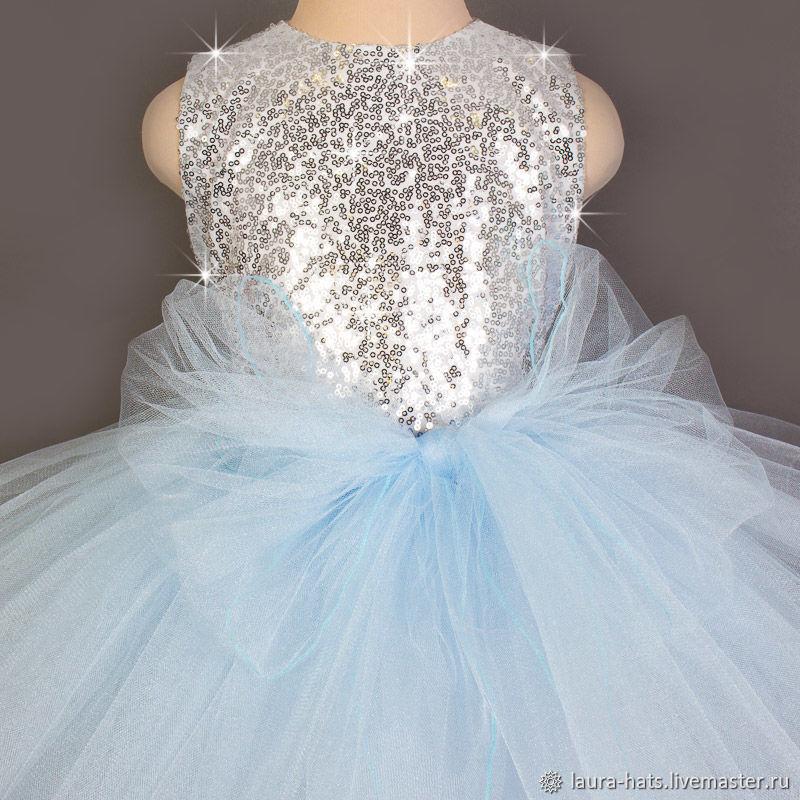 Нарядное платье Снежинка для девочки Платье на Новый год
