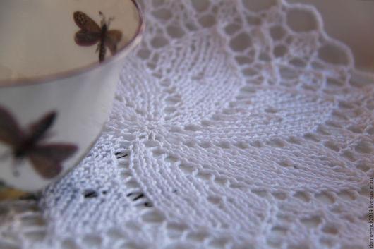 Текстиль, ковры ручной работы. Ярмарка Мастеров - ручная работа. Купить Салфетка Вихри снежные. Handmade. Белый, гостинная, хлопок