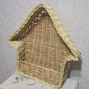 Для дома и интерьера ручной работы. Ярмарка Мастеров - ручная работа Домик плетеный из ивовой лозы для декора интерьера. Handmade.