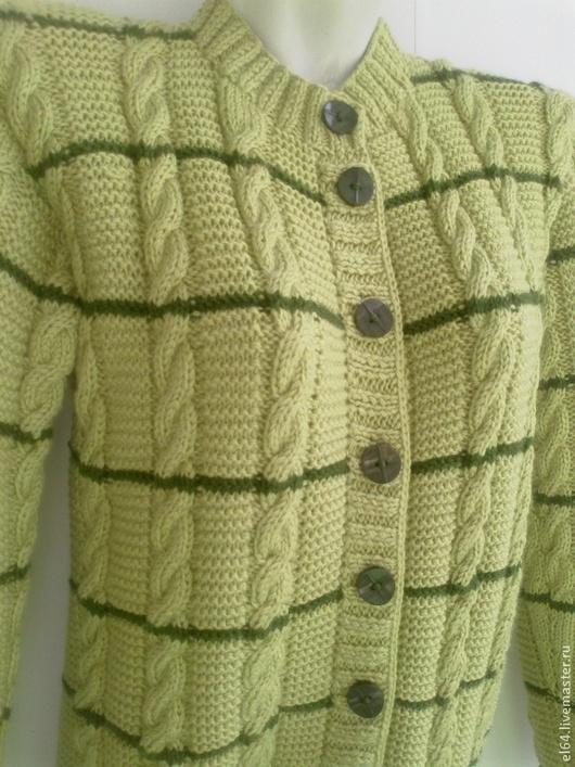 Пиджаки, жакеты ручной работы. Ярмарка Мастеров - ручная работа. Купить Жакет Фисташковый шик. Handmade. В полоску