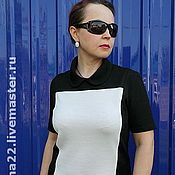 """Одежда handmade. Livemaster - original item Knitted dress """"Playing with color - classic"""". Handmade."""