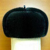 Русский стиль handmade. Livemaster - original item Hat with ear-flaps from fur of the European mink. Selemeneva. Handmade.