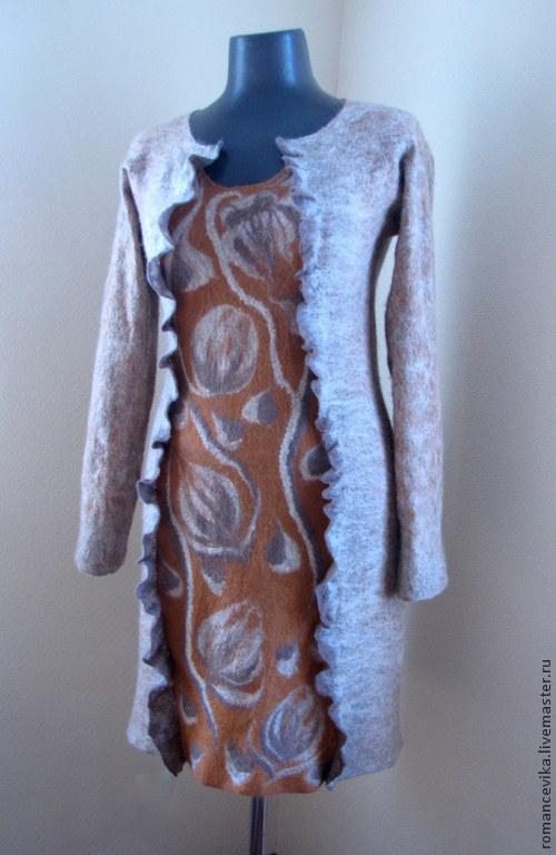 """Платья ручной работы. Ярмарка Мастеров - ручная работа. Купить валяное платье """"Yanel"""". Handmade. Авторское платье, платье женское"""