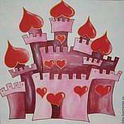 Картины и панно ручной работы. Ярмарка Мастеров - ручная работа Картина Замок принцессы. Handmade.