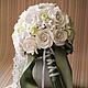 Свадебный букет для нежной невесты выполнен из полимерной глины DECO.Останется в памяти на всю жизнь и радовать Вас будет каждый день и напоминать о таком событии как СВАДЬБА!!!