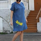 Одежда ручной работы. Ярмарка Мастеров - ручная работа Джинсовое платье НАСТРОЕНИЕ. Handmade.