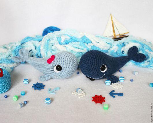Игрушки животные, ручной работы. Ярмарка Мастеров - ручная работа. Купить Влюбленные киты (вязаные крючком игрушки). Handmade. Голубой