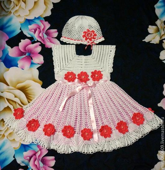 Одежда для девочек, ручной работы. Ярмарка Мастеров - ручная работа. Купить Платье и шапочка летние. Handmade. Платье, платье для девочек