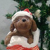 Куклы и игрушки ручной работы. Ярмарка Мастеров - ручная работа Ватная ёлочная игрушка. Собачка в подарок.. Handmade.
