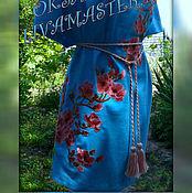 """Одежда ручной работы. Ярмарка Мастеров - ручная работа Туника вышитая """"Сакура"""". Handmade."""