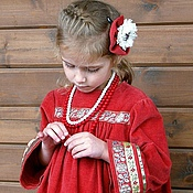 Работы для детей, handmade. Livemaster - original item Dress in the Russian style for girls. Handmade.