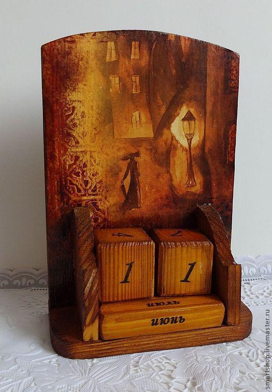 Комплекты аксессуаров ручной работы. Ярмарка Мастеров - ручная работа. Купить Вечный календарь  Уходит женщина в туман. Handmade. Блокнот