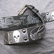 Аксессуары handmade. Livemaster - original item DRUMMER belt leather. Handmade.