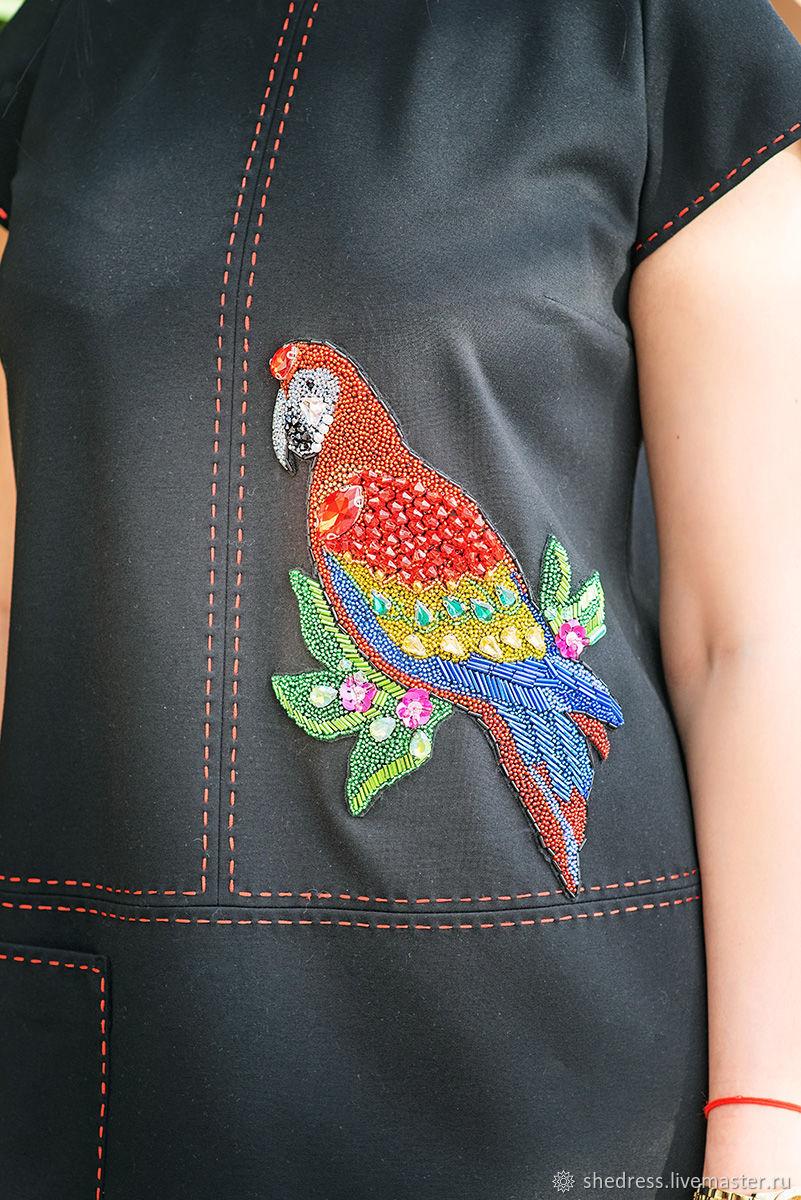 Модное платье с вышивкой Многоцветный Ара, Платья, Ижевск,  Фото №1